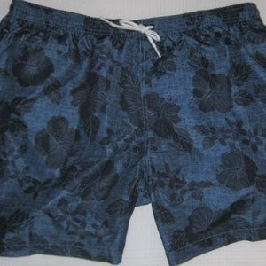 Mens Trunks Surf Swim Mesh Lined Shorts Blue XL